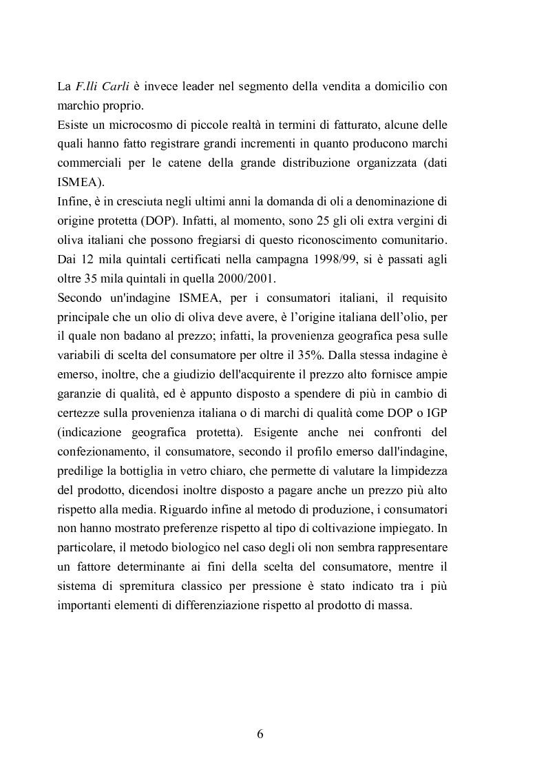 Anteprima della tesi: Valutazione della qualità di oli extravergini di oliva, ottenuti con diverse tecniche di estrazione, in relazione al contenuto di sotanze a struttura fenolica, Pagina 6