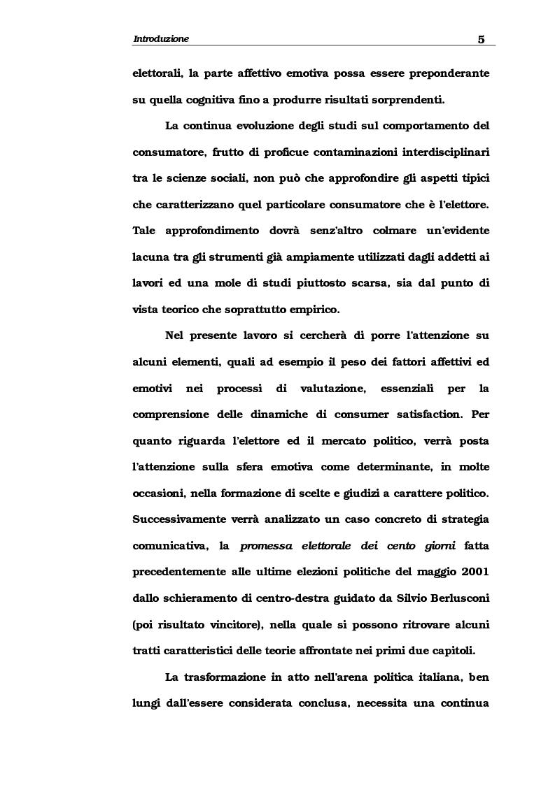 Anteprima della tesi: Consumer satisfaction e marketing politico, una proposta di studio, Pagina 3