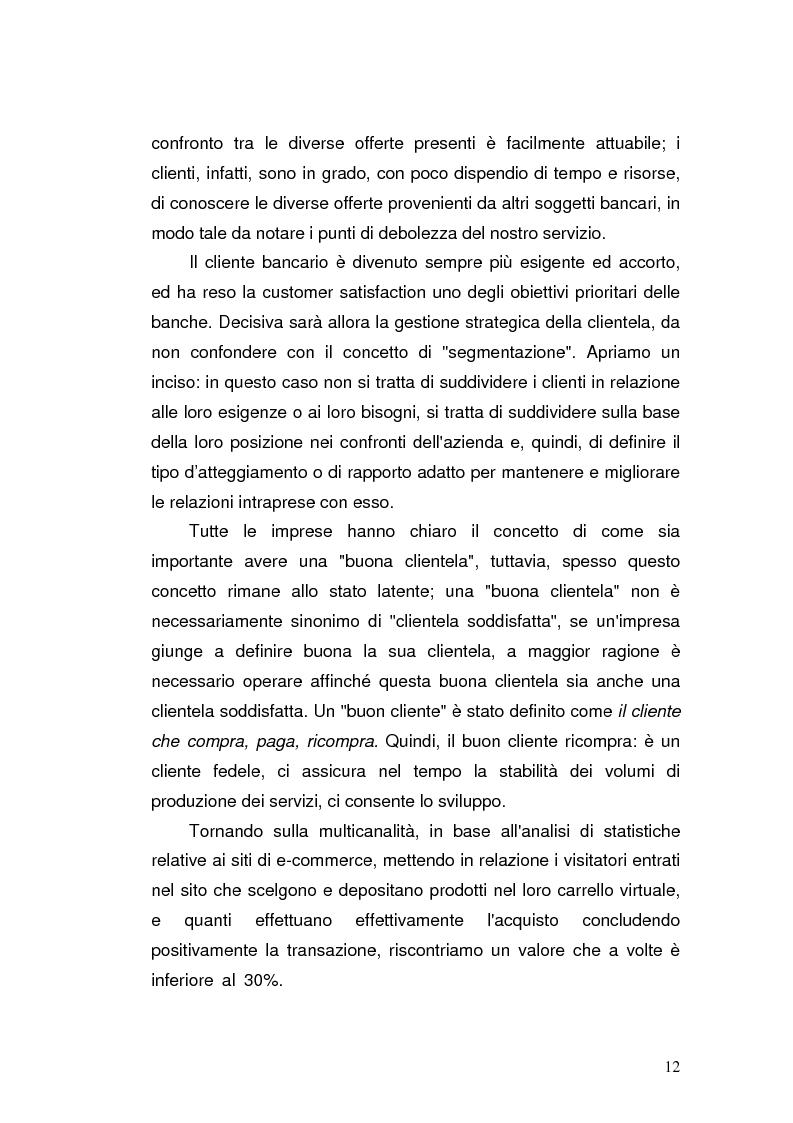 Anteprima della tesi: I prodotti bancari virtuali - Un'indagine di mercato per la Cassa di Risparmio di Asti, Pagina 15