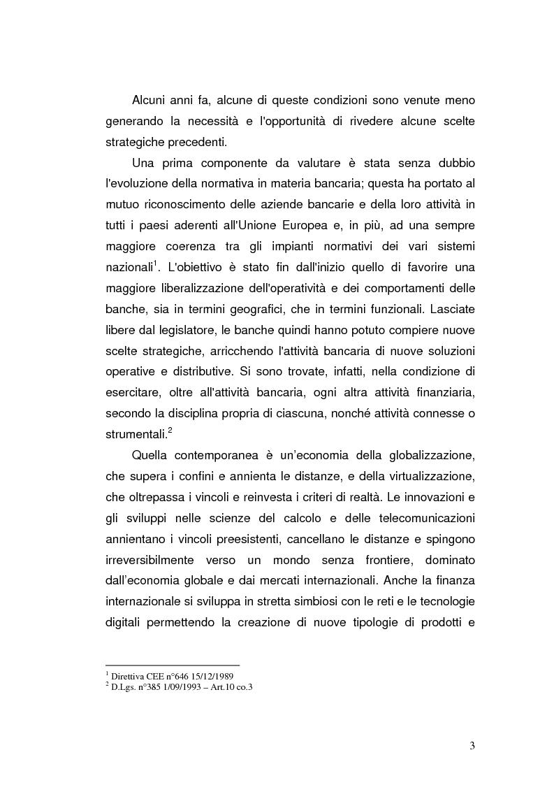 Anteprima della tesi: I prodotti bancari virtuali - Un'indagine di mercato per la Cassa di Risparmio di Asti, Pagina 6