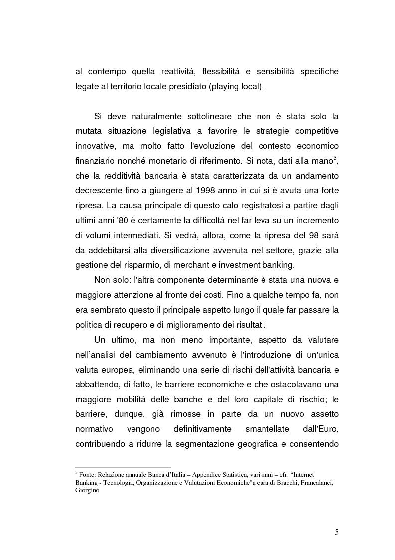 Anteprima della tesi: I prodotti bancari virtuali - Un'indagine di mercato per la Cassa di Risparmio di Asti, Pagina 8
