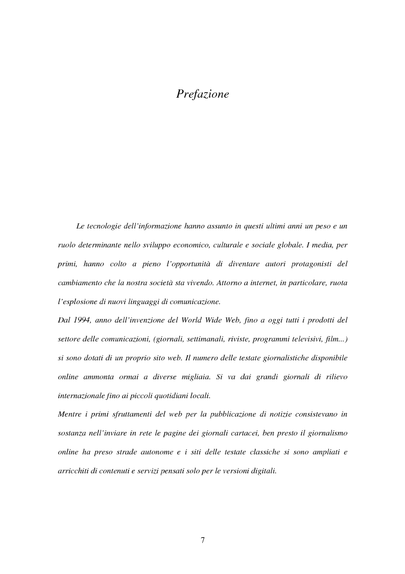 Anteprima della tesi: Il giornalismo online: il caso del Times di Londra, Pagina 1