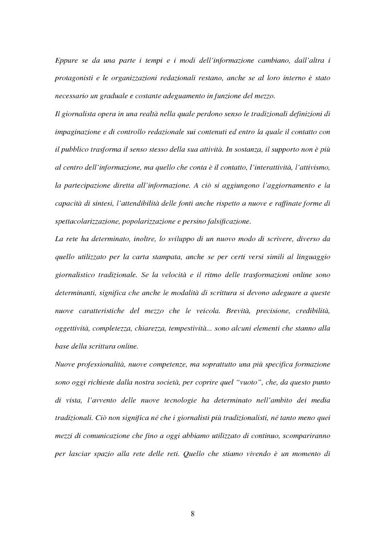 Anteprima della tesi: Il giornalismo online: il caso del Times di Londra, Pagina 2