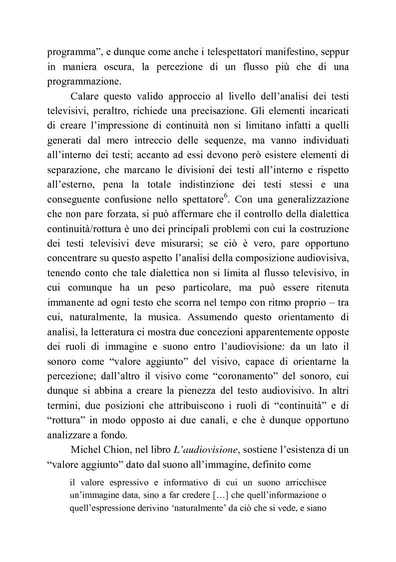 Estratto dalla tesi: Usi della musica nella neotelevisione: una proposta di tassonomia