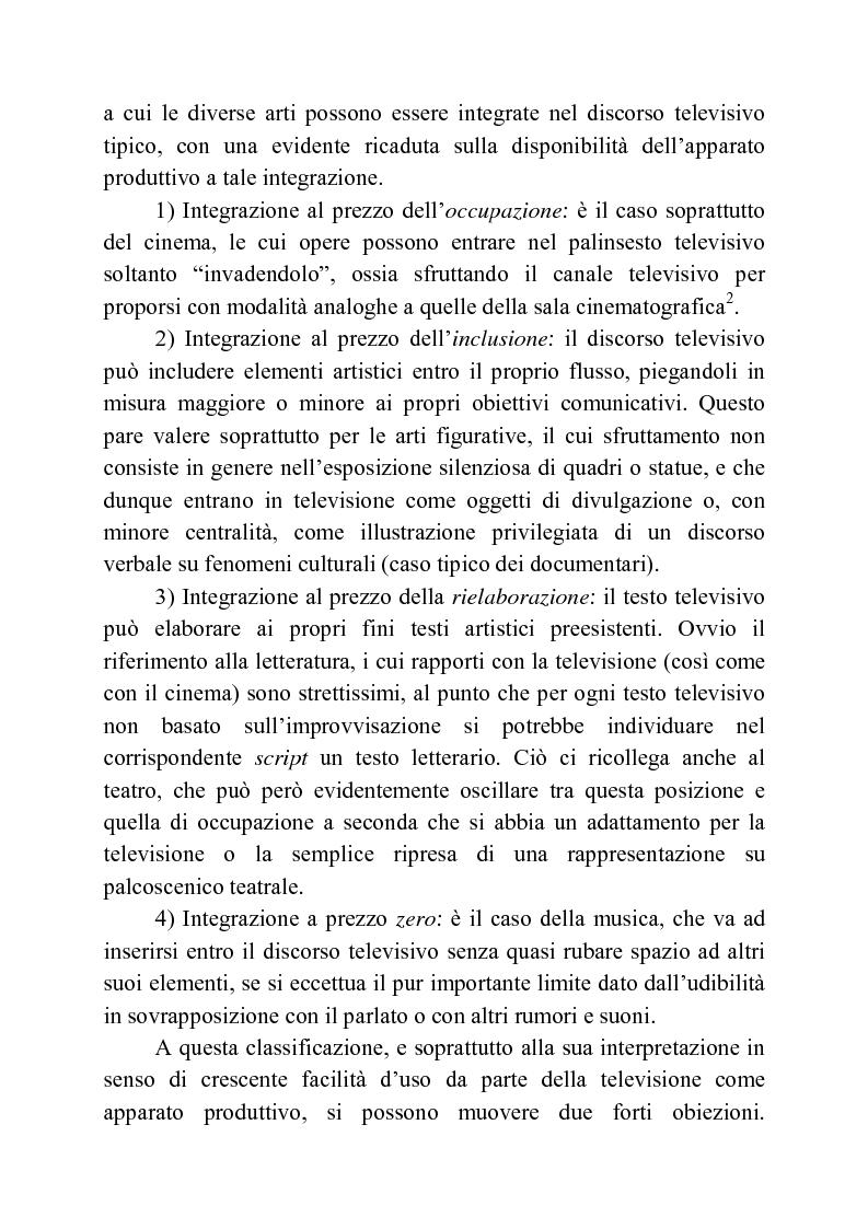 Anteprima della tesi: Usi della musica nella neotelevisione: una proposta di tassonomia, Pagina 12