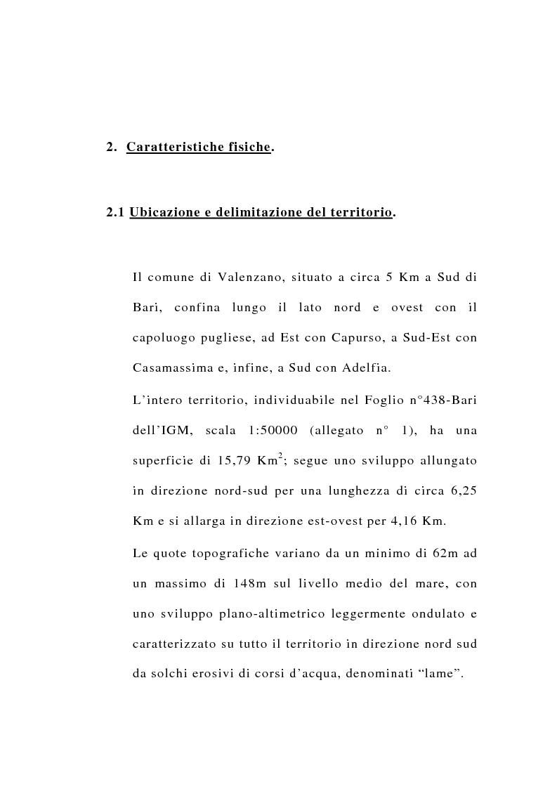 Anteprima della tesi: Ipotesi di riordino dell'uso irriguo della falda carsica in agro di Valenzano in provincia di Bari, Pagina 2