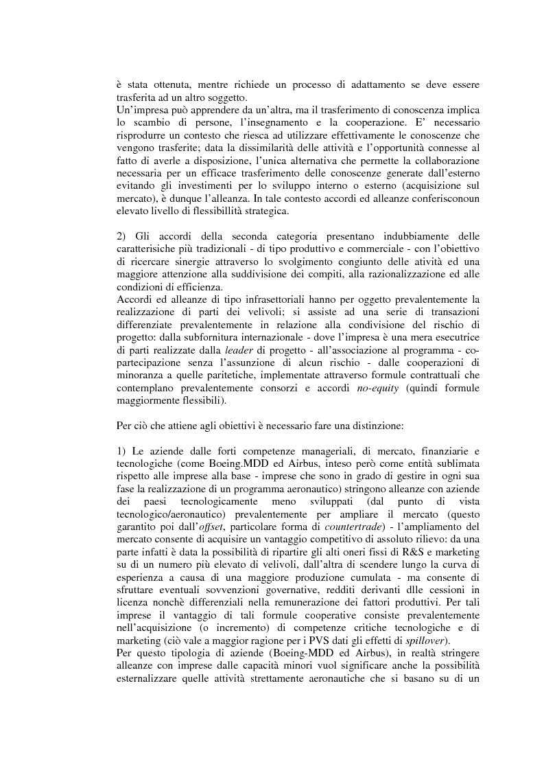 Anteprima della tesi: Relazioni cooperative tra imprese nell'industria aeronautica civile. Il caso Alenia, Pagina 10