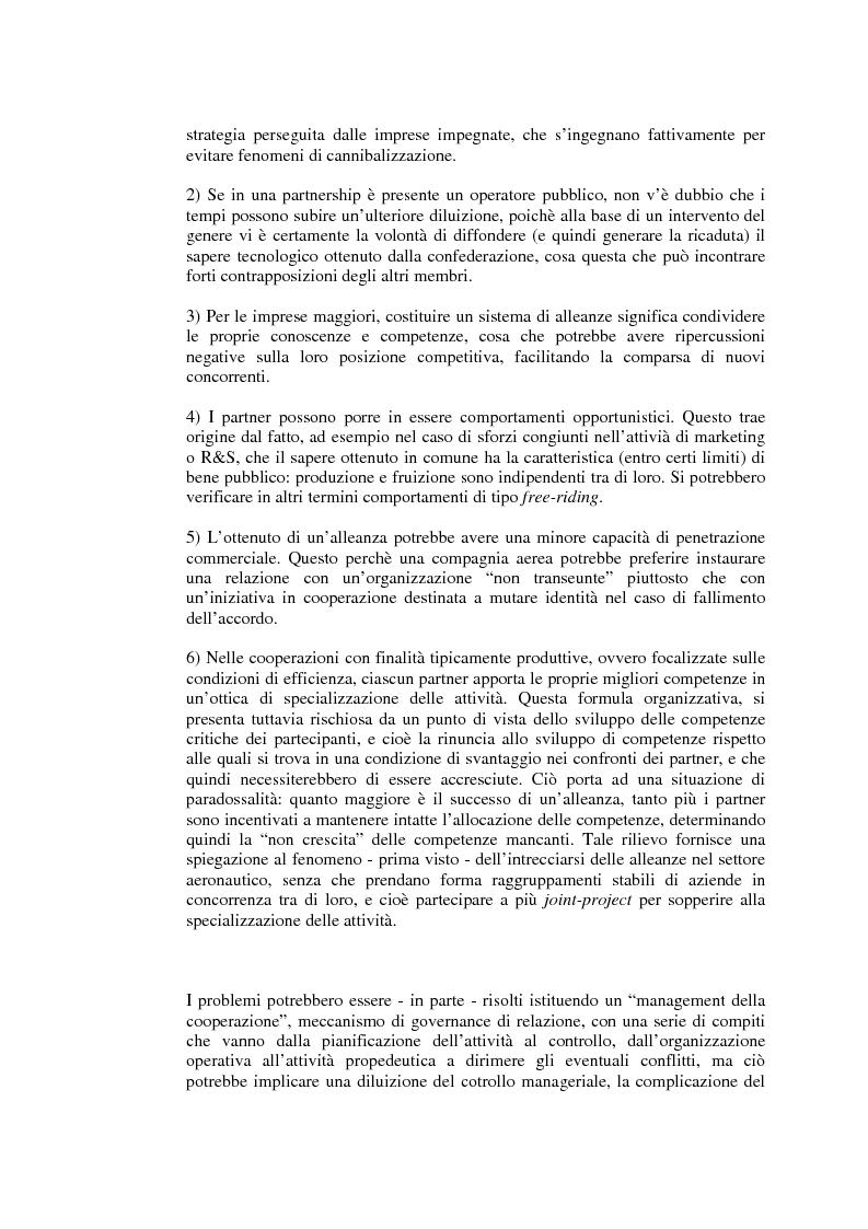 Anteprima della tesi: Relazioni cooperative tra imprese nell'industria aeronautica civile. Il caso Alenia, Pagina 12
