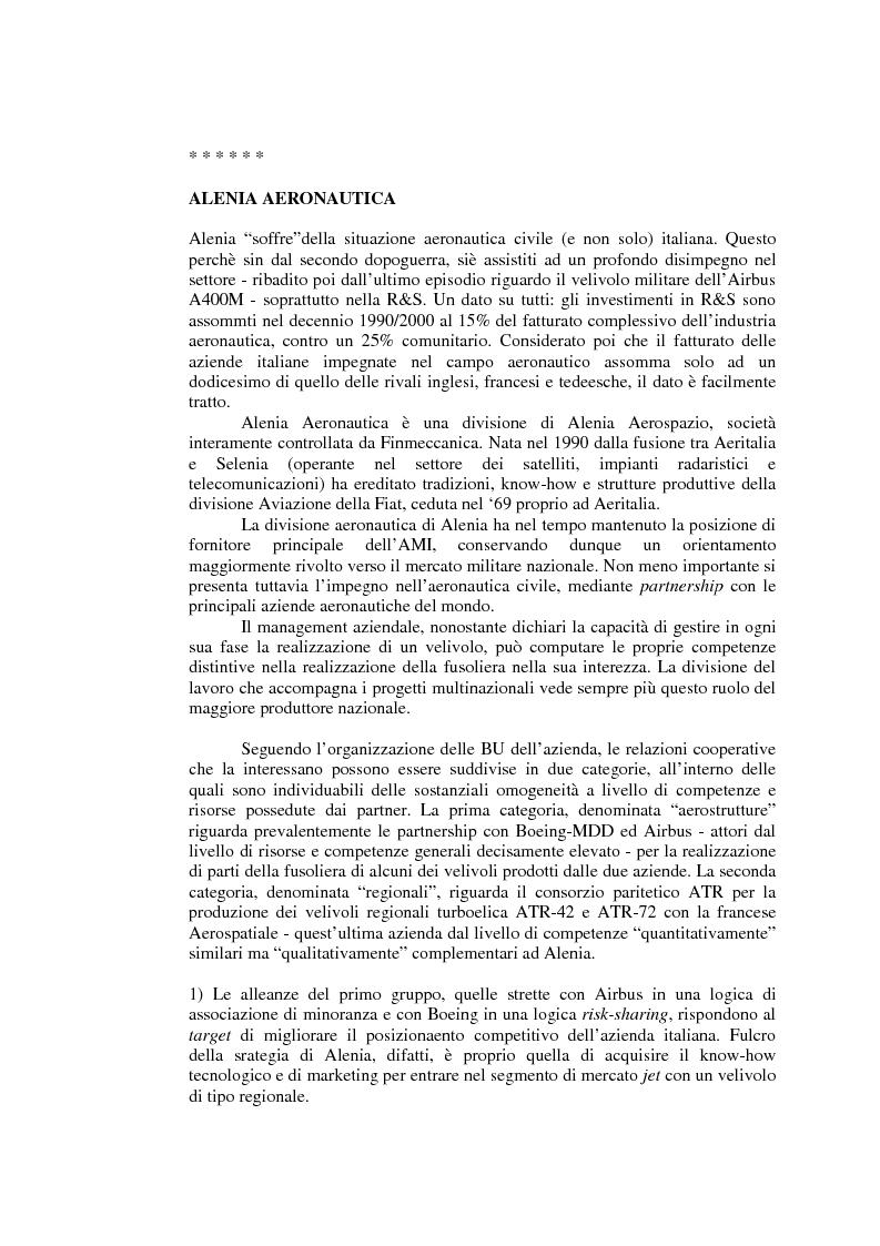 Anteprima della tesi: Relazioni cooperative tra imprese nell'industria aeronautica civile. Il caso Alenia, Pagina 14