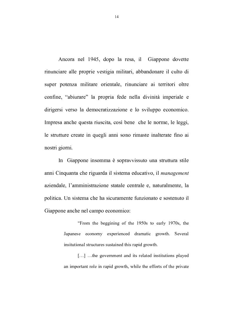 Anteprima della tesi: La riforma dell'amministrazione centrale nel Giappone d'oggi, Pagina 10
