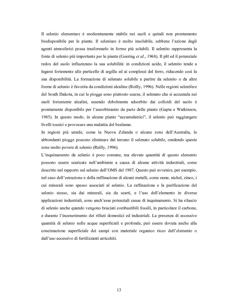 Anteprima della tesi: Accumulo di selenio da parte di specie di Lactobacillus, Pagina 11