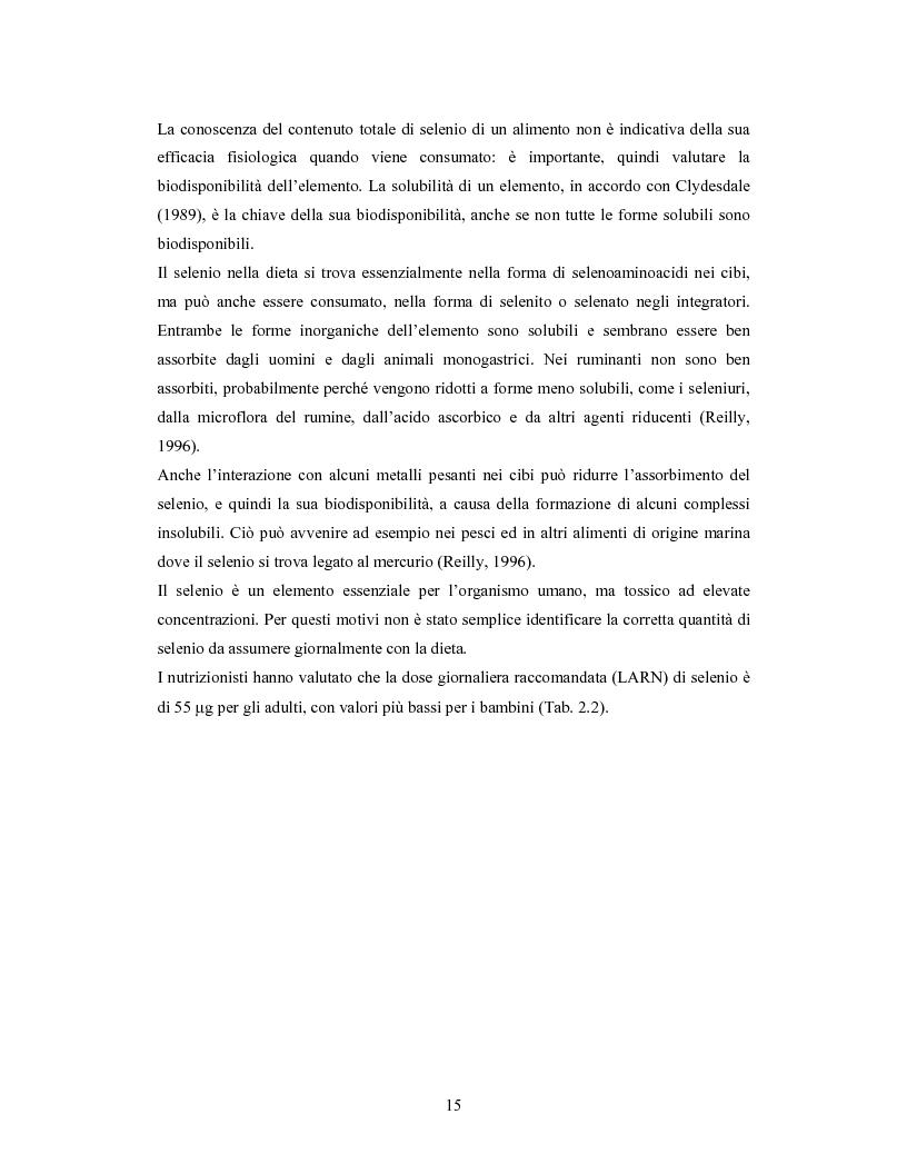 Anteprima della tesi: Accumulo di selenio da parte di specie di Lactobacillus, Pagina 13