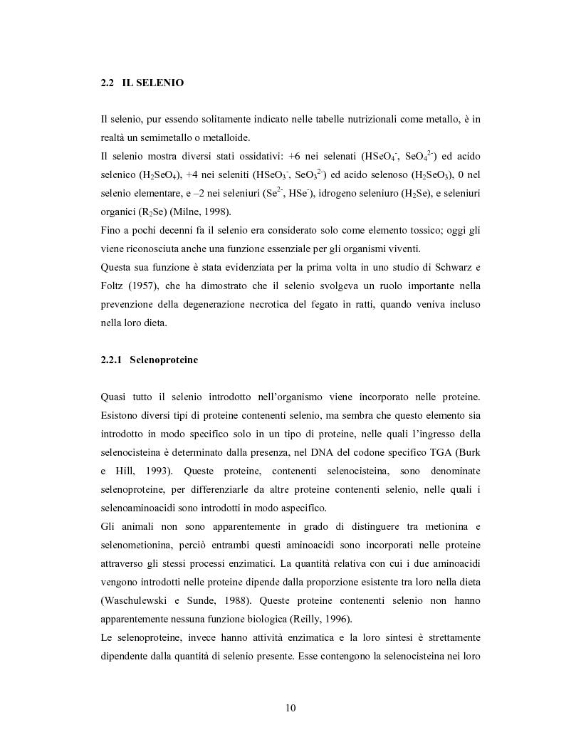 Anteprima della tesi: Accumulo di selenio da parte di specie di Lactobacillus, Pagina 8