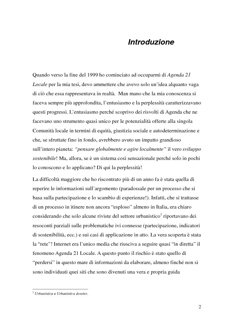 Anteprima della tesi: Processi di Agenda 21 Locale e politiche e strumenti per lo Sviluppo Urbano Sostenibile. Il caso di Mola di Bari, Pagina 1