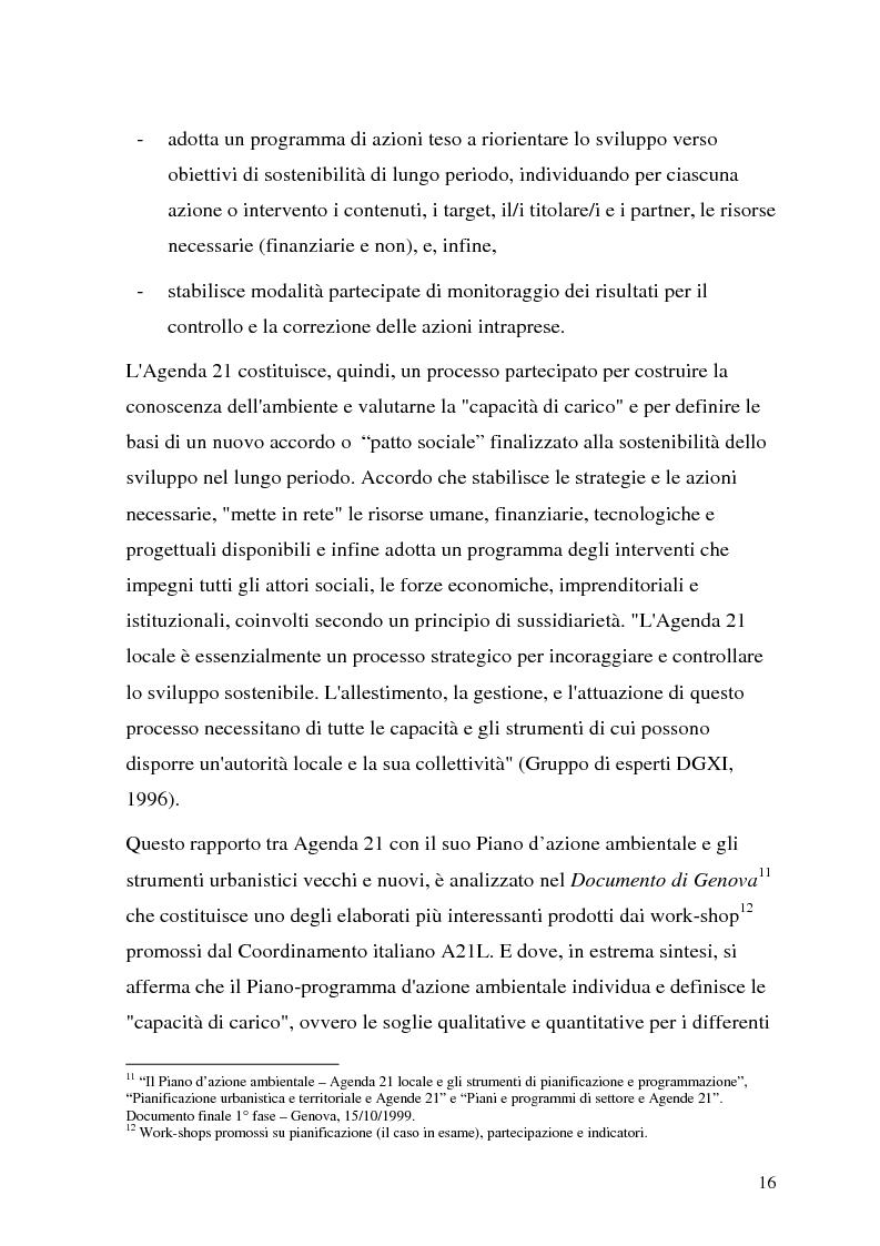 Anteprima della tesi: Processi di Agenda 21 Locale e politiche e strumenti per lo Sviluppo Urbano Sostenibile. Il caso di Mola di Bari, Pagina 14