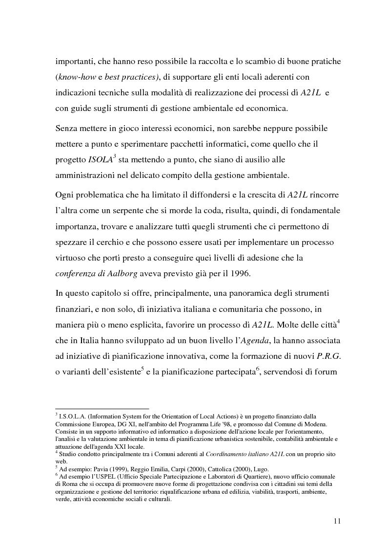 Anteprima della tesi: Processi di Agenda 21 Locale e politiche e strumenti per lo Sviluppo Urbano Sostenibile. Il caso di Mola di Bari, Pagina 9
