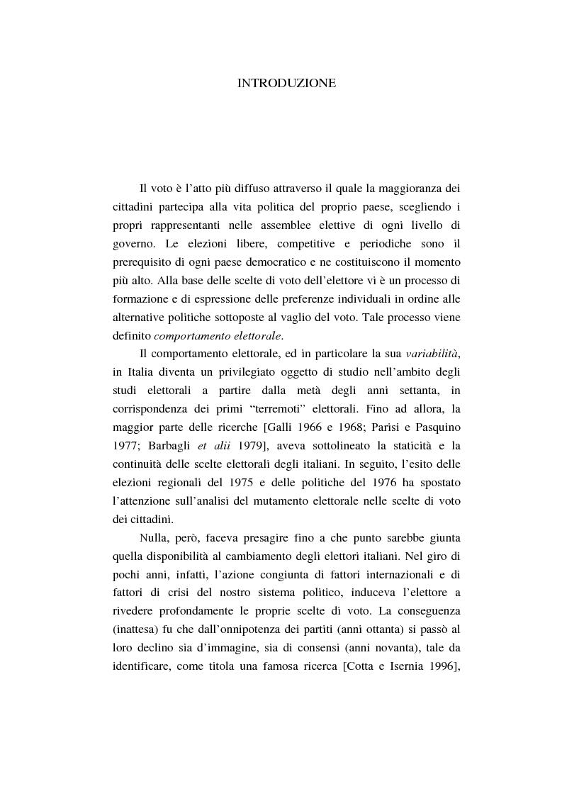 Anteprima della tesi: Un intenso biennio. Confronto tra quattro diverse elezioni nel Comune di Lecce (1999-2000), Pagina 1