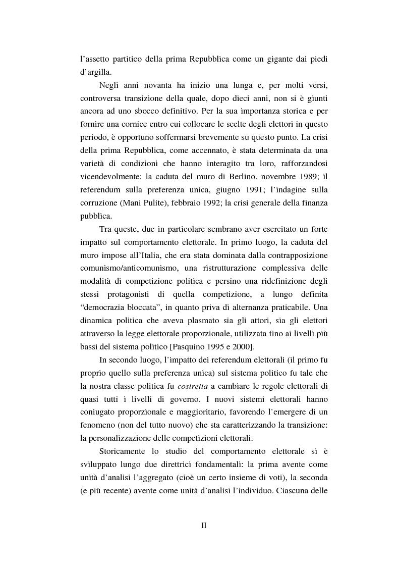 Anteprima della tesi: Un intenso biennio. Confronto tra quattro diverse elezioni nel Comune di Lecce (1999-2000), Pagina 2