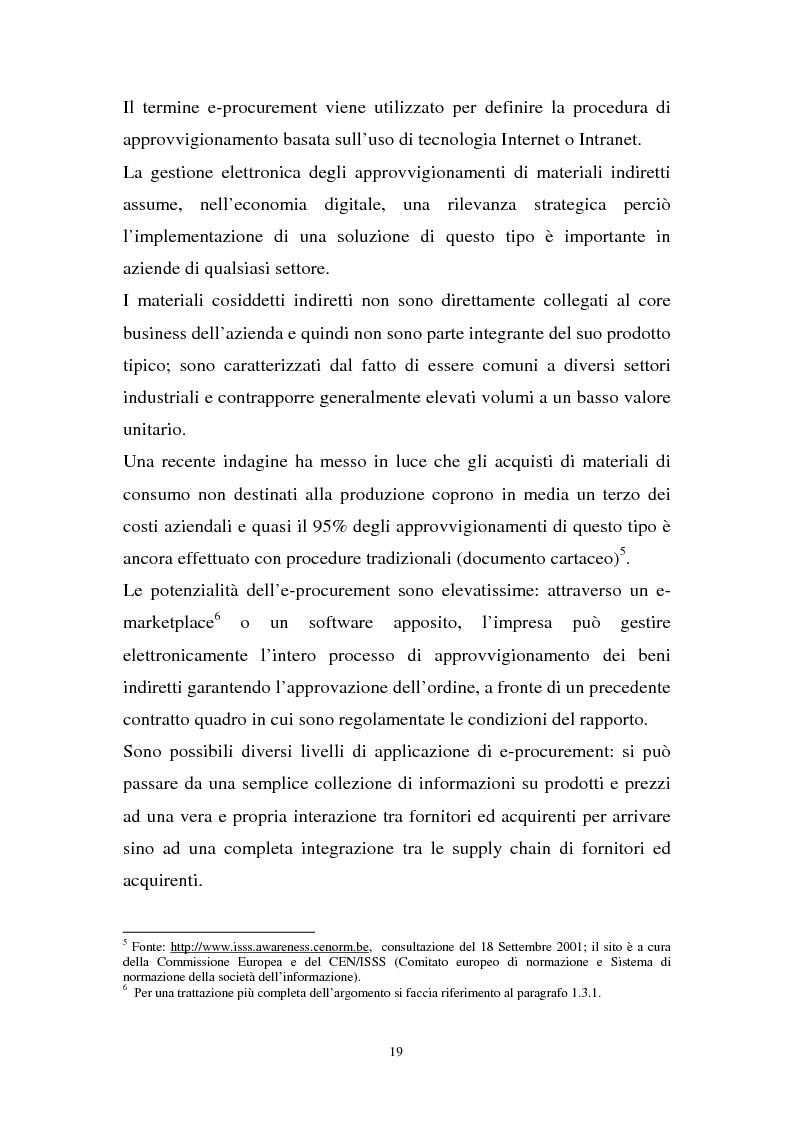 Anteprima della tesi: La gestione dell'e-procurement ed il ruolo delle banche, Pagina 11