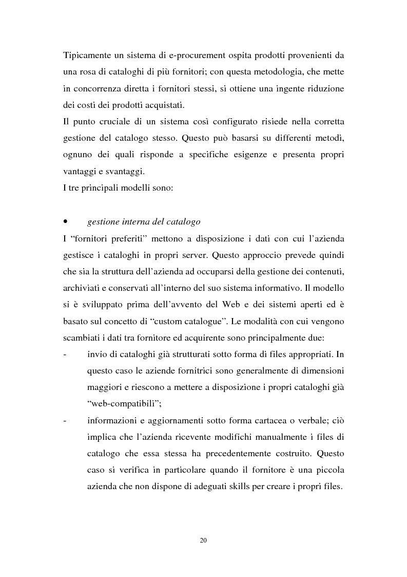 Anteprima della tesi: La gestione dell'e-procurement ed il ruolo delle banche, Pagina 12