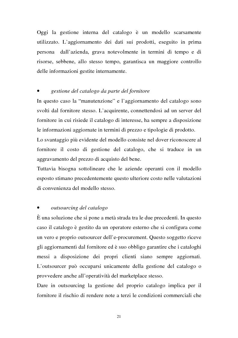 Anteprima della tesi: La gestione dell'e-procurement ed il ruolo delle banche, Pagina 13