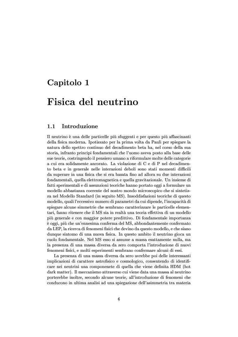 Anteprima della tesi: Misure cinematiche nell'esperimento Chorus per la ricerca di oscillazione di neutrini, Pagina 1