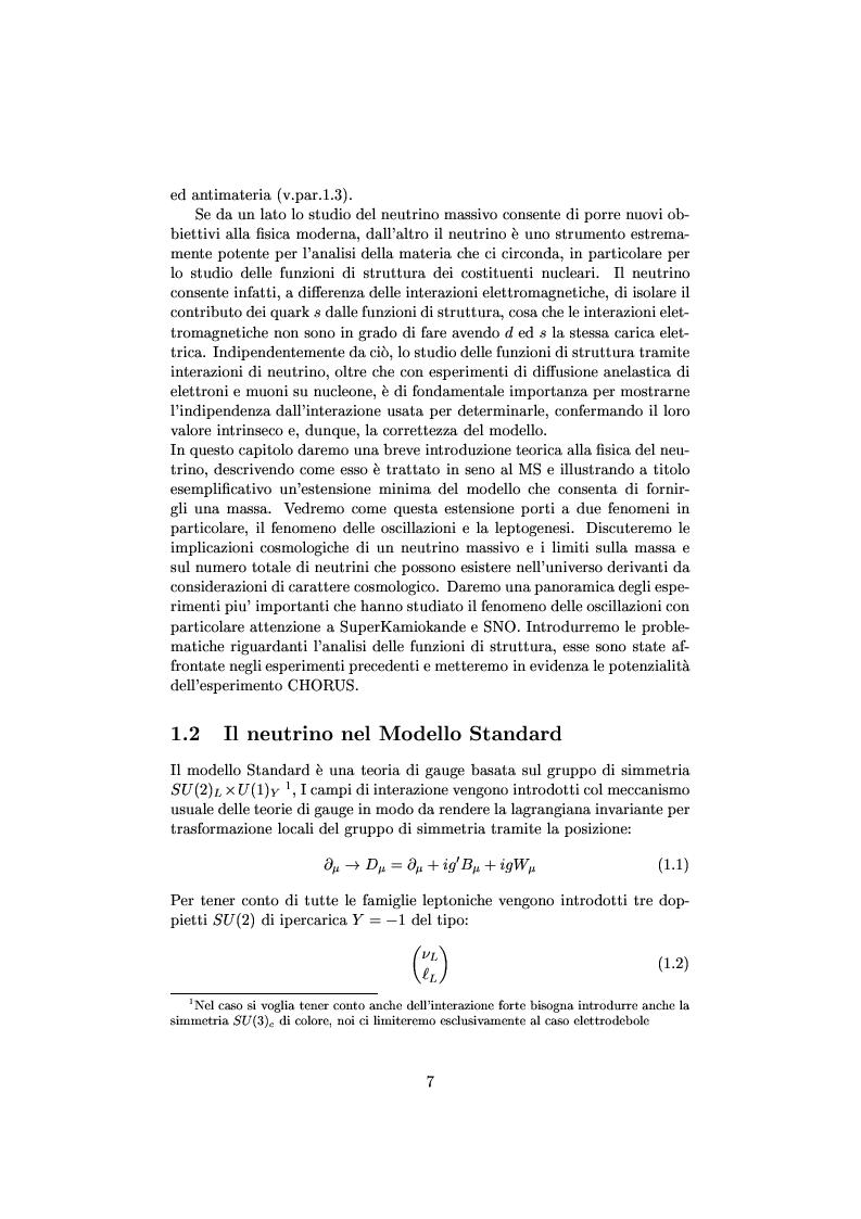 Anteprima della tesi: Misure cinematiche nell'esperimento Chorus per la ricerca di oscillazione di neutrini, Pagina 2