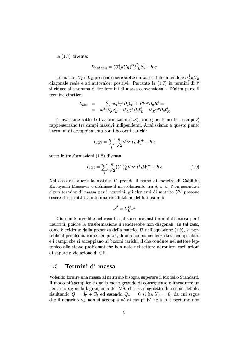 Anteprima della tesi: Misure cinematiche nell'esperimento Chorus per la ricerca di oscillazione di neutrini, Pagina 4