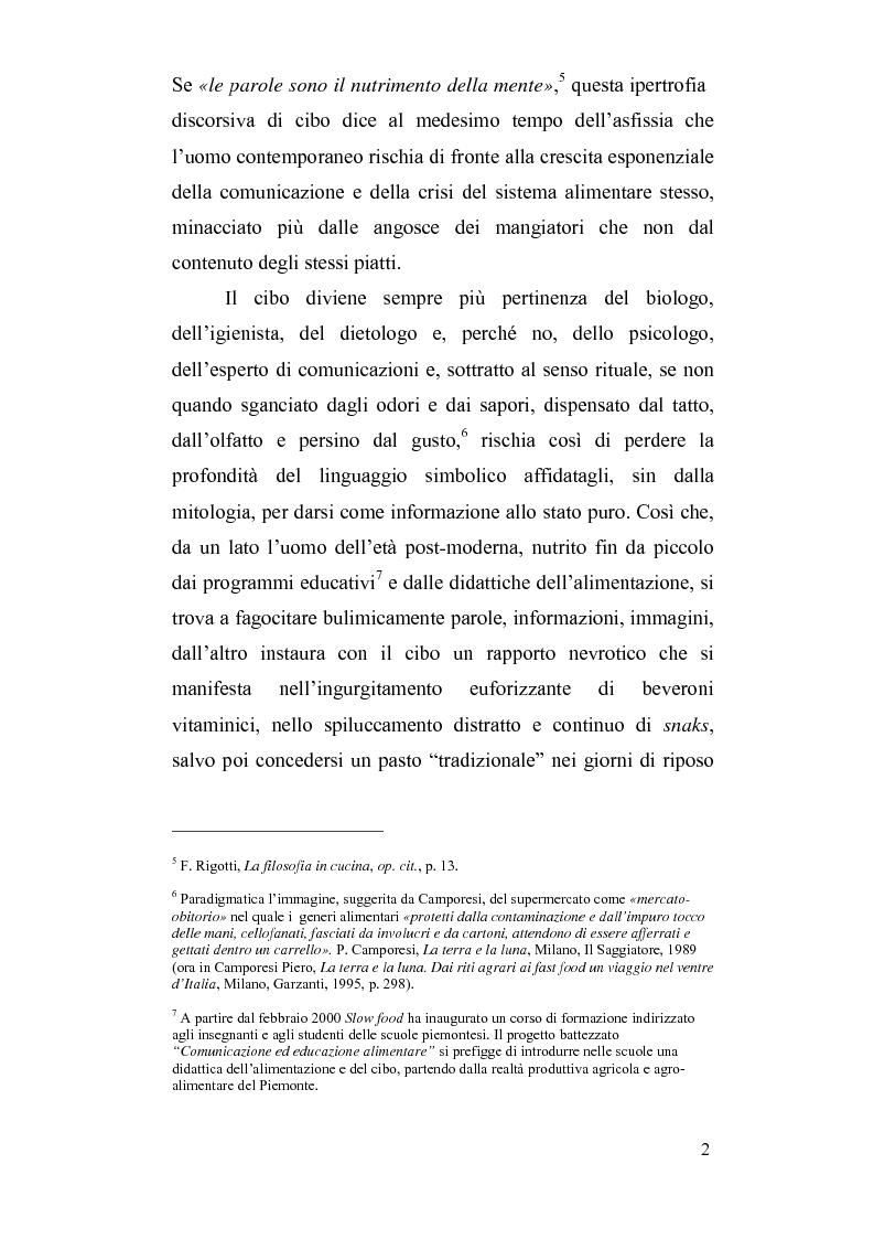 Anteprima della tesi: Mitologie del postmoderno: da McDonald's alla cucina del territorio, Pagina 2