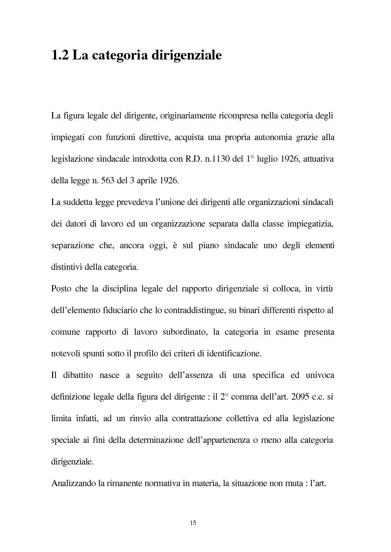 Anteprima della tesi: Il licenziamento disciplinare del dirigente, Pagina 12