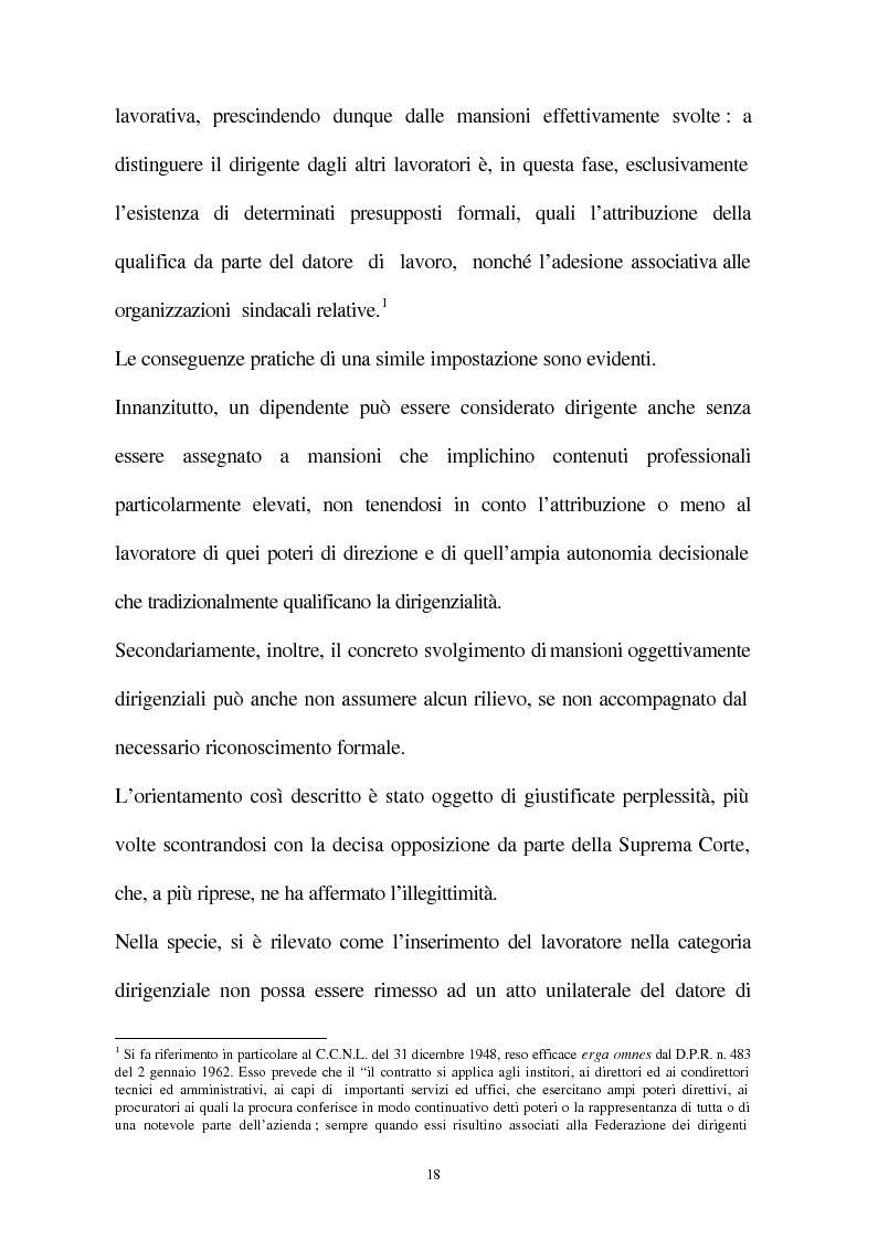 Anteprima della tesi: Il licenziamento disciplinare del dirigente, Pagina 15