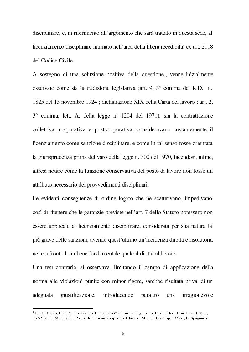 Anteprima della tesi: Il licenziamento disciplinare del dirigente, Pagina 3