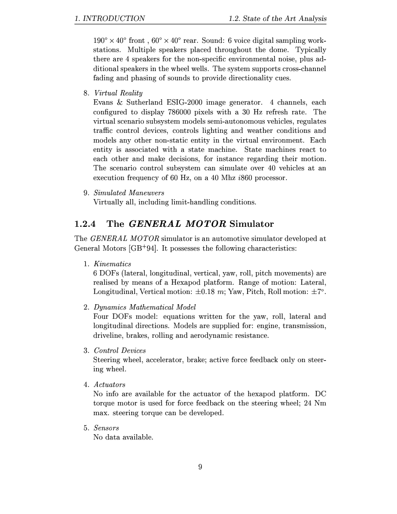 Anteprima della tesi: Study and design of motion base for driving simulators, Pagina 12