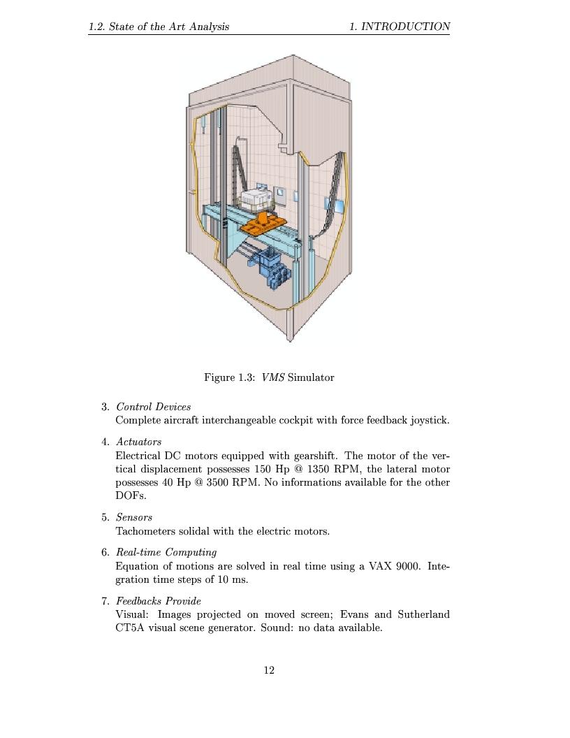 Anteprima della tesi: Study and design of motion base for driving simulators, Pagina 15