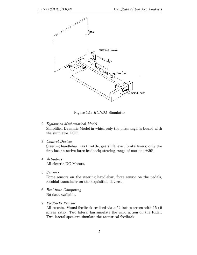 Anteprima della tesi: Study and design of motion base for driving simulators, Pagina 8