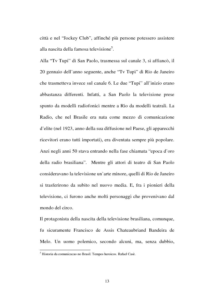 Anteprima della tesi: O telejornal. Informazione e televisione in Brasile, Pagina 11