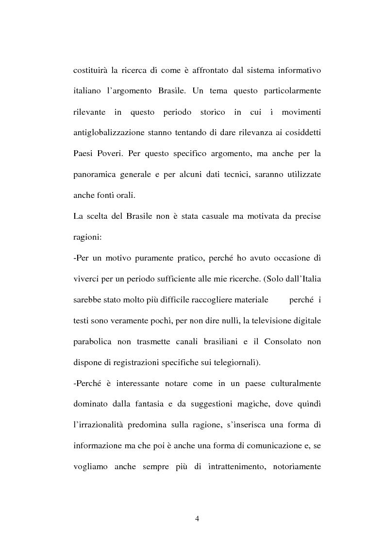 Anteprima della tesi: O telejornal. Informazione e televisione in Brasile, Pagina 2