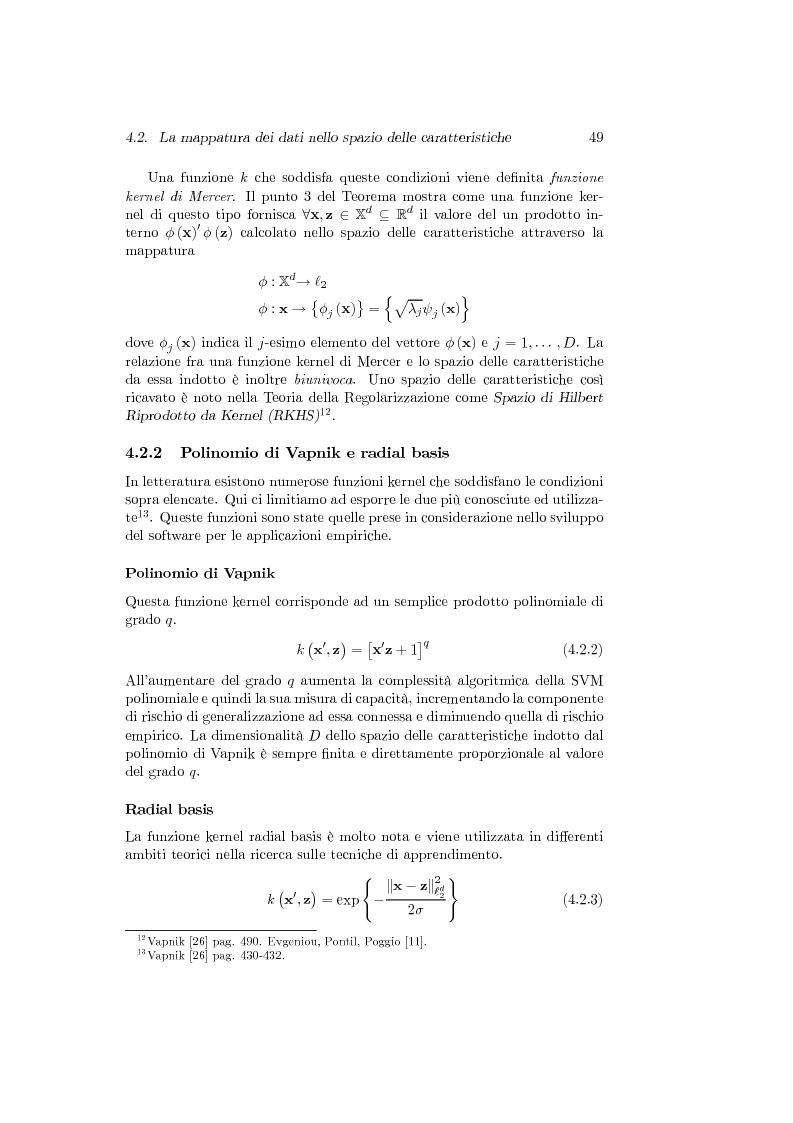 Anteprima della tesi: Support Vector Machines e apprendimento statistico per l'analisi non parametrica della regressione: nuovi sviluppi teorici, software e applicazioni finanziarie, Pagina 13
