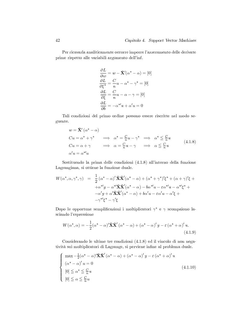 Anteprima della tesi: Support Vector Machines e apprendimento statistico per l'analisi non parametrica della regressione: nuovi sviluppi teorici, software e applicazioni finanziarie, Pagina 6