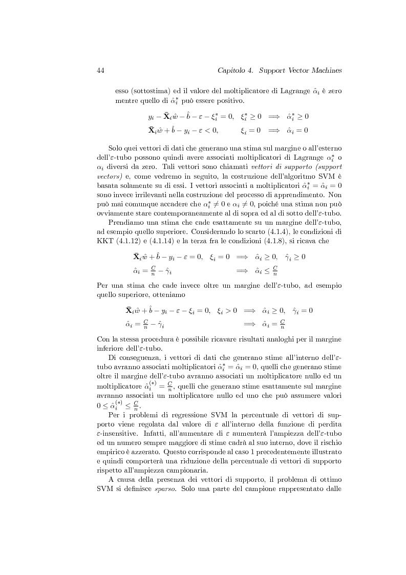 Anteprima della tesi: Support Vector Machines e apprendimento statistico per l'analisi non parametrica della regressione: nuovi sviluppi teorici, software e applicazioni finanziarie, Pagina 8