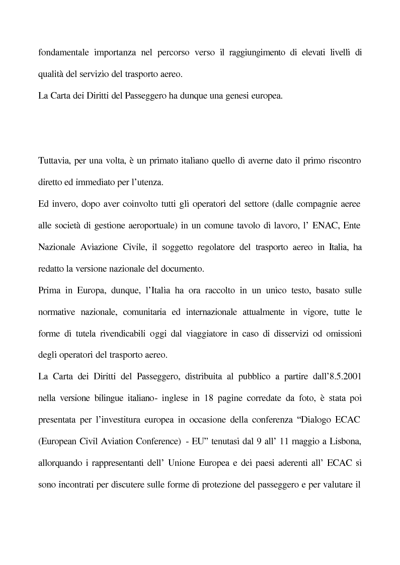 Anteprima della tesi: La Carta dei Diritti del Passeggero, Pagina 2