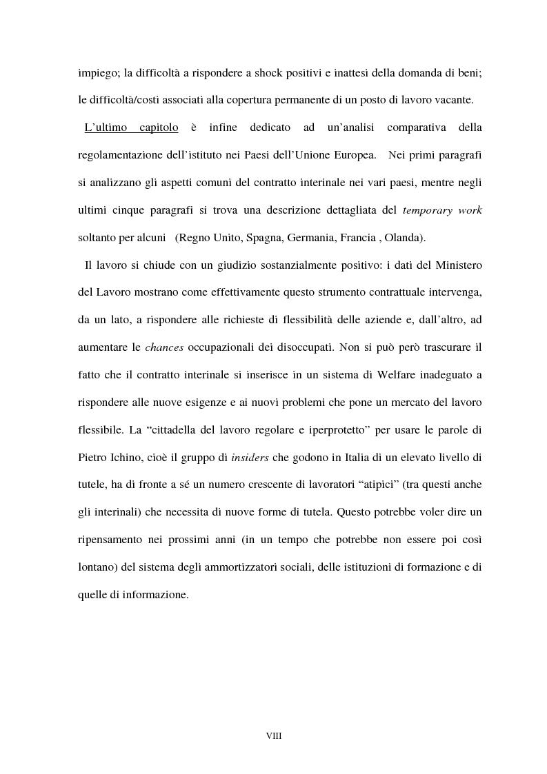 Anteprima della tesi: Il lavoro interinale: l'esperienza italiana, Pagina 4