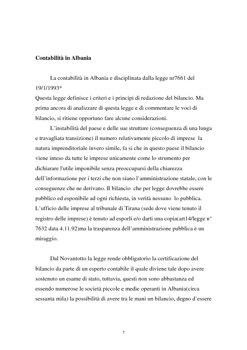 Anteprima della tesi: Analisi comparata di bilancio tra l'italiano e l'albanese, Pagina 1