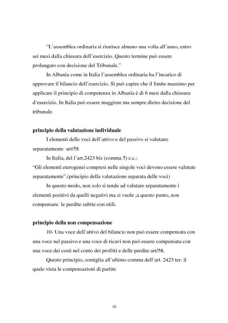 Anteprima della tesi: Analisi comparata di bilancio tra l'italiano e l'albanese, Pagina 13