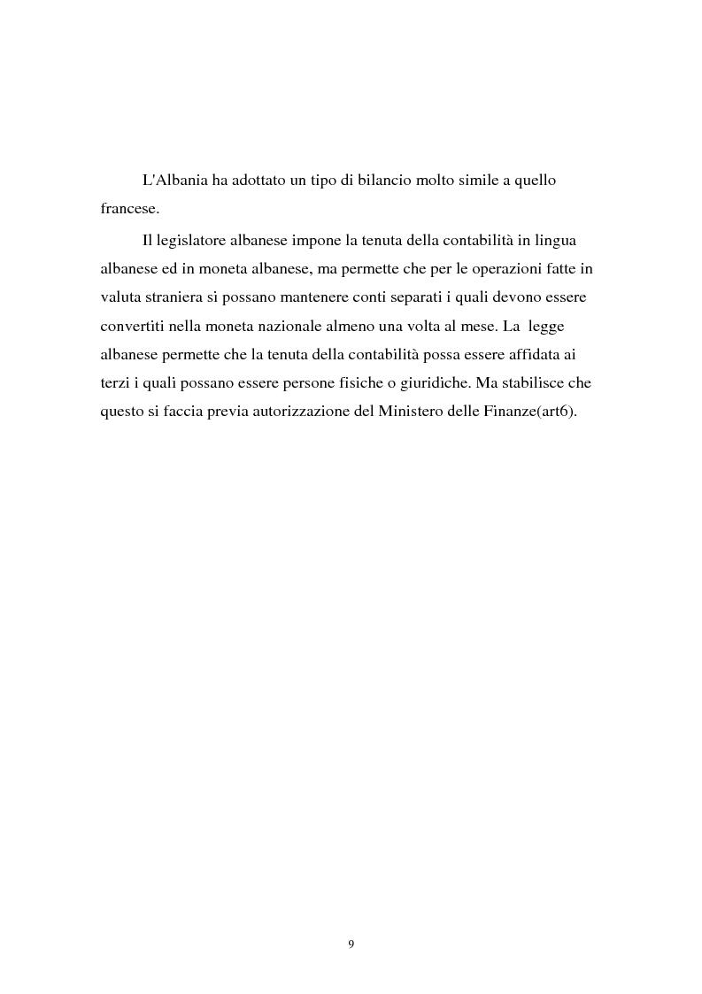Anteprima della tesi: Analisi comparata di bilancio tra l'italiano e l'albanese, Pagina 3