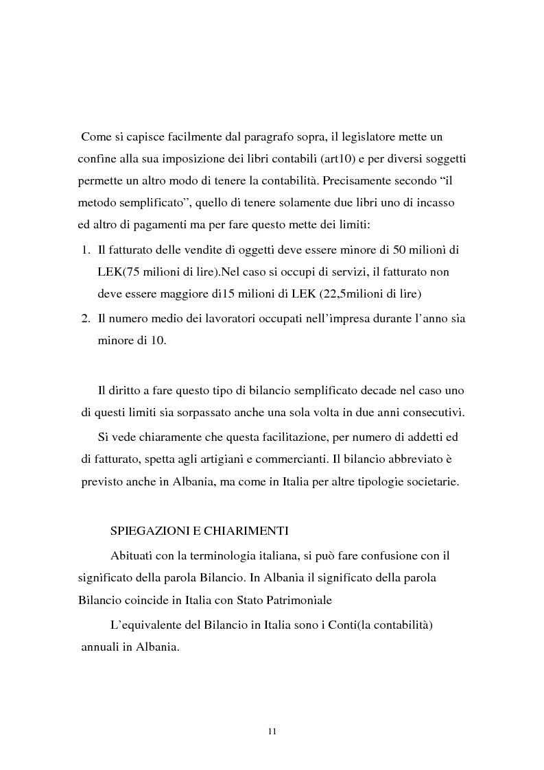 Anteprima della tesi: Analisi comparata di bilancio tra l'italiano e l'albanese, Pagina 5