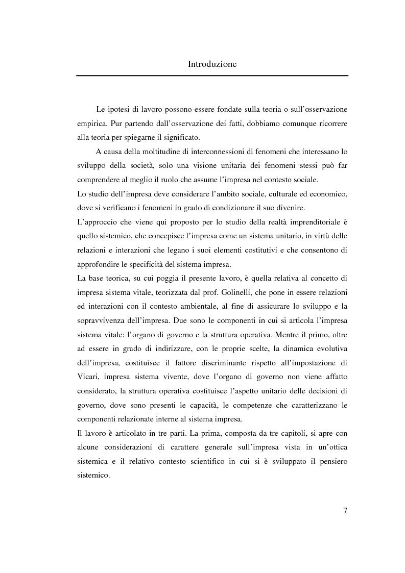 Anteprima della tesi: Verso l'impresa relazionale: l'approccio sistemico all'impresa tra vincoli e opportunità, Pagina 1