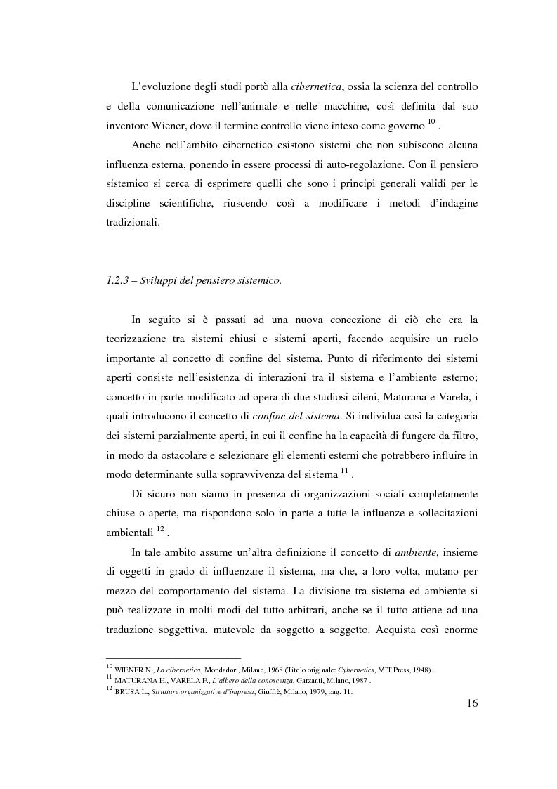 Anteprima della tesi: Verso l'impresa relazionale: l'approccio sistemico all'impresa tra vincoli e opportunità, Pagina 10