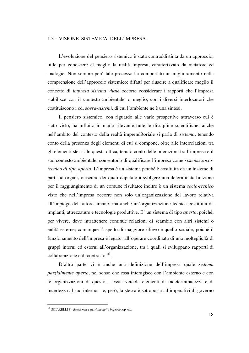 Anteprima della tesi: Verso l'impresa relazionale: l'approccio sistemico all'impresa tra vincoli e opportunità, Pagina 12