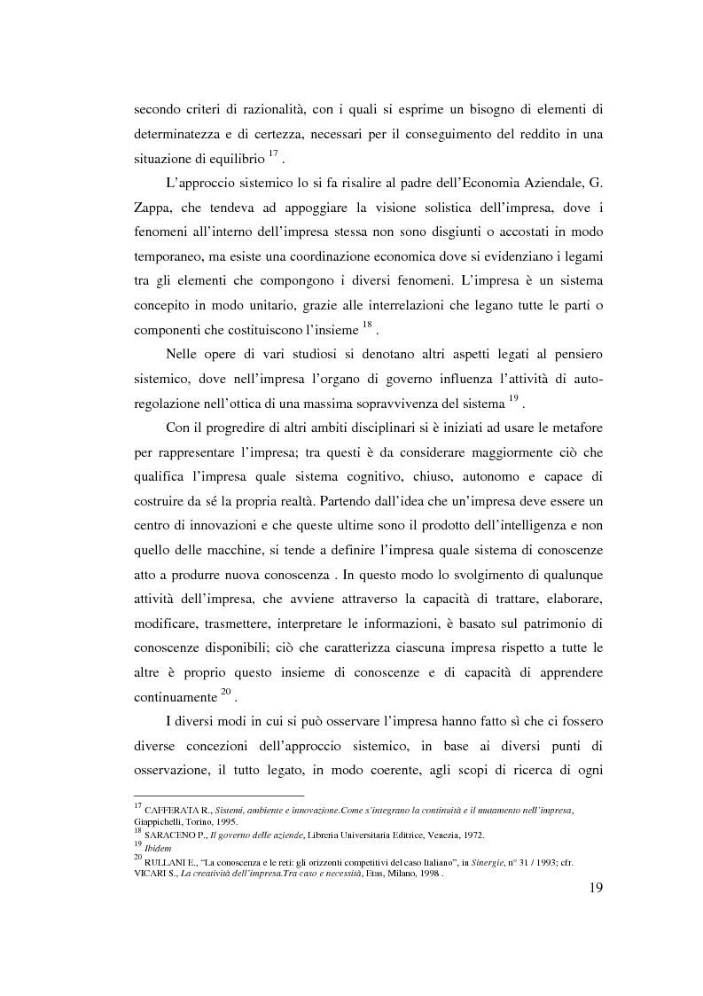 Anteprima della tesi: Verso l'impresa relazionale: l'approccio sistemico all'impresa tra vincoli e opportunità, Pagina 13
